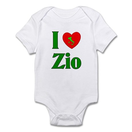 I Love (heart) Zio Infant Bodysuit