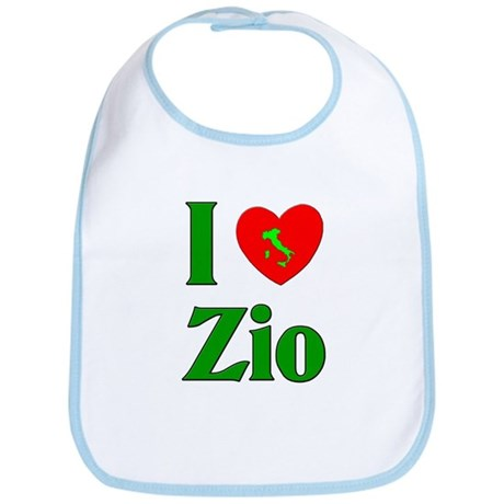 I Love (heart) Zio Bib