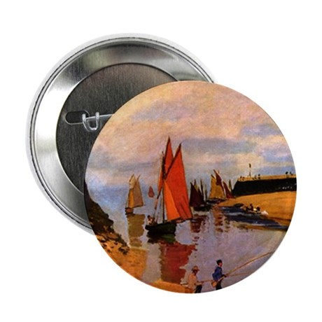 "Port of Trouville by Monet 2.25"" Button (100 pack)"