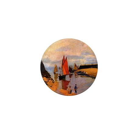 Port of Trouville by Monet Mini Button (100 pack)