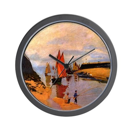 Port of Trouville by Monet Wall Clock