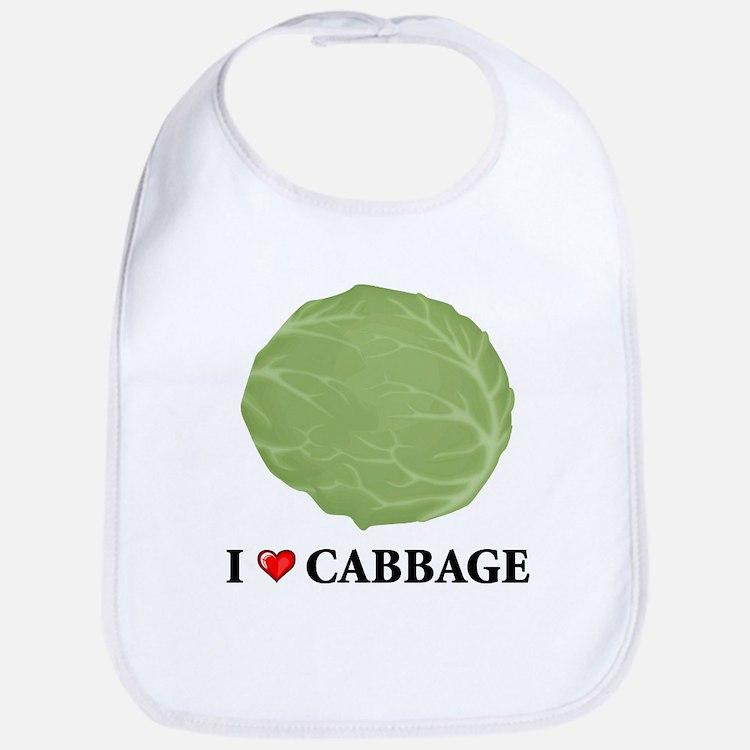 I Love Cabbage Bib