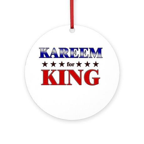 KAREEM for king Ornament (Round)