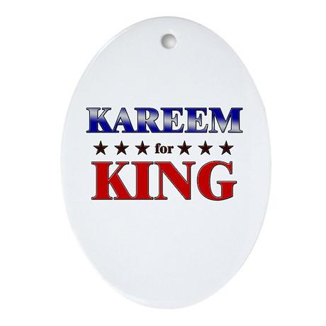 KAREEM for king Oval Ornament