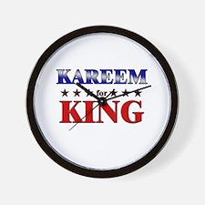 KAREEM for king Wall Clock