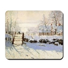 Magpie by Monet Mousepad