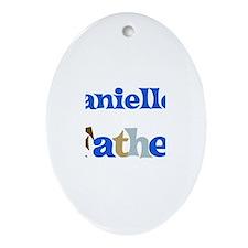 Danielle's Father Oval Ornament