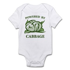 Powered By Cabbage Infant Bodysuit