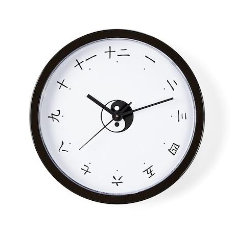 Yin & Yang Chinese Numbers Character Wall Clock
