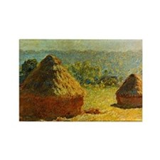 Haystacks by Monet Rectangle Magnet