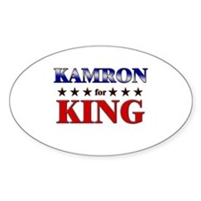 KAMRON for king Oval Decal