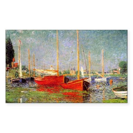 Argenteuil by Monet Rectangle Sticker