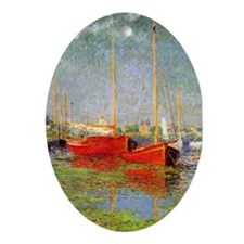 Argenteuil by Monet Oval Ornament