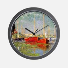 Argenteuil by Monet Wall Clock