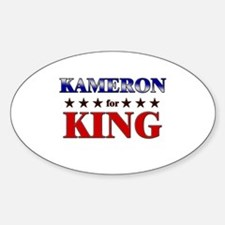KAMERON for king Oval Decal