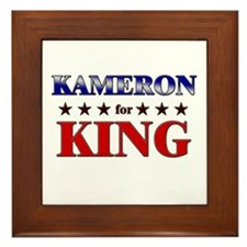KAMERON for king Framed Tile
