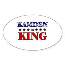 KAMDEN for king Oval Decal