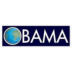 Earth O: Obama for the Earth car sticker