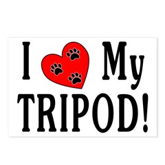 I Love My Tripod! Postcards (Package of 8)