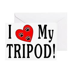 I Love My Tripod! Greeting Cards (Pk of 20)