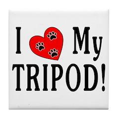 I Love My Tripod! Tile Coaster