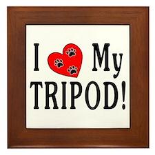 I Love My Tripod! Framed Tile