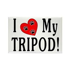 I Love My Tripod! Rectangle Magnet (10 pack)