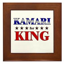 KAMARI for king Framed Tile
