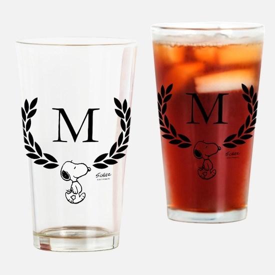 Snoopy Monogram Drinking Glass