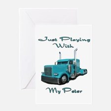 Playing With My Peter Greeting Card