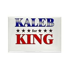 KALEB for king Rectangle Magnet