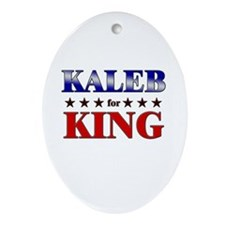 KALEB for king Oval Ornament