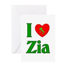 I (heart) Love Zia Greeting Card