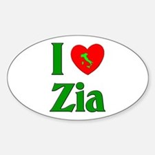 I (heart) Love Zia Oval Decal