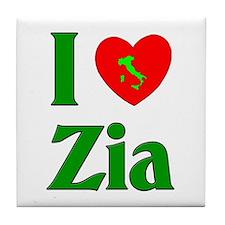 I (heart) Love Zia Tile Coaster