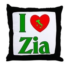 I (heart) Love Zia Throw Pillow