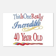 Incredible At 40 Postcards (Package of 8)