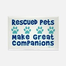 Rescued Pet Companions Rectangle Magnet (10 pack)