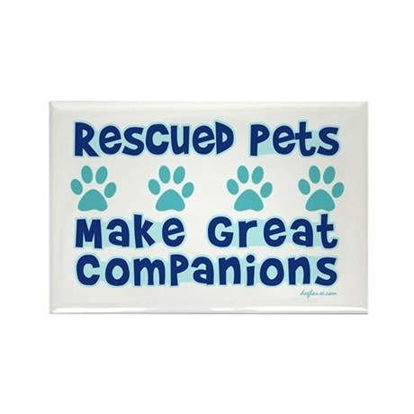 Rescued Pet Companions Rectangle Magnet (100 pack)