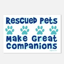 Rescued Pet Companions Postcards (Package of 8)