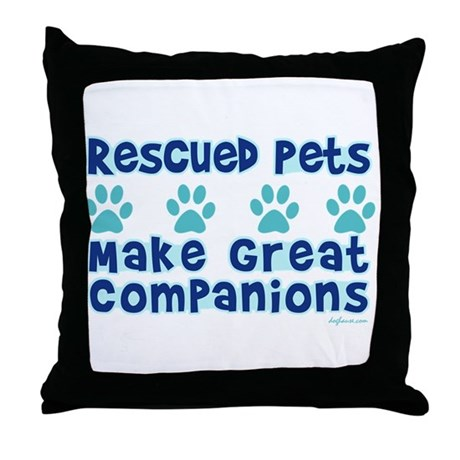 Rescued Pet Companions Throw Pillow