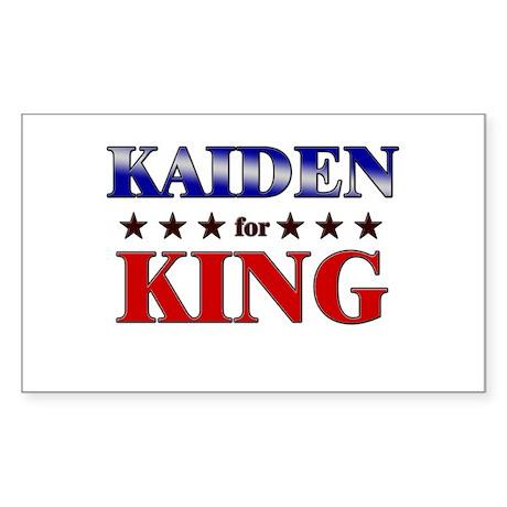 KAIDEN for king Rectangle Sticker