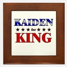KAIDEN for king Framed Tile