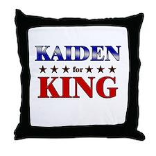 KAIDEN for king Throw Pillow