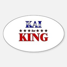 KAI for king Oval Decal