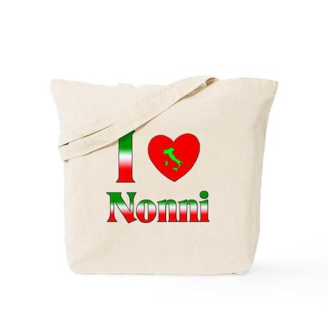 I Love (heart) Nonni Tote Bag
