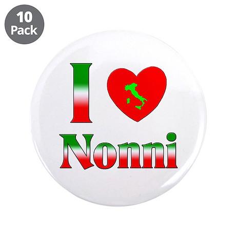 """I Love (heart) Nonni 3.5"""" Button (10 pack)"""