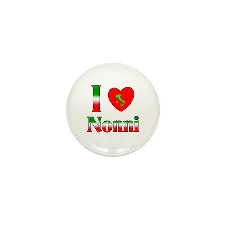 I Love (heart) Nonni Mini Button (100 pack)