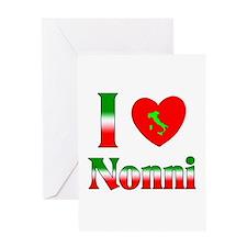 I Love (heart) Nonni Greeting Card