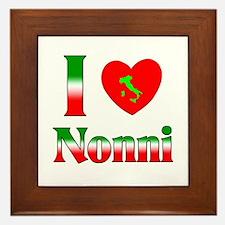I Love (heart) Nonni Framed Tile